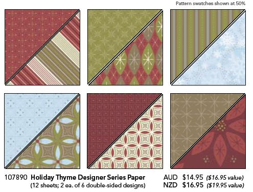 Holiday Thyme Designer Series Paper