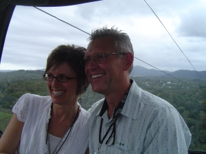 Shellie & Sterling on the Sky Rail